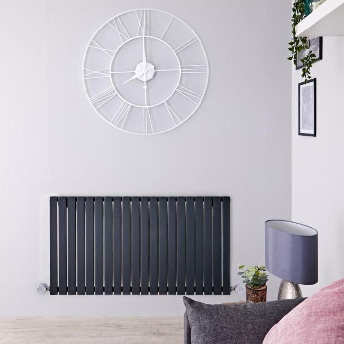 Designradiator Elektrisch Thermostatisch Horizontaal Antraciet 63,5cm x 118cm | Sloane