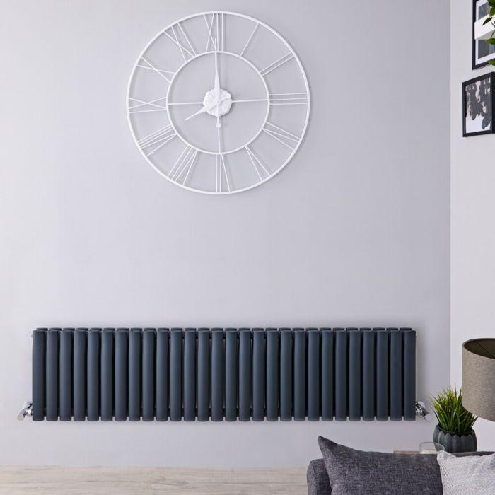 Revive Horizontale Dubbelpaneel Design Radiator Antraciet 40 x 164,7 x 7,8cm 1733Watt