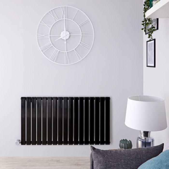 Designradiator Elektrisch Thermostatisch Horizontaal Zwart 63,5cm x 119cm | Delta