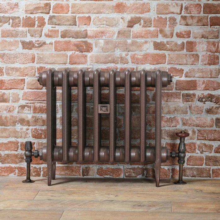 Gietijzeren Radiator Antiek Koper 46cm Hoog | Kies de Breedte | Victoria