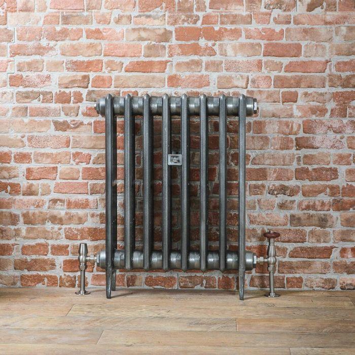 Gietijzeren Radiator Tin Kleur 66cm Hoog | Kies de Breedte | Victoria