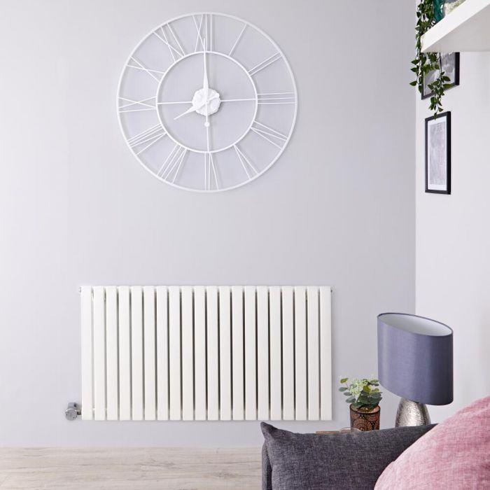 Designradiator Elektrisch Thermostatisch Horizontaal Wit 63,5cm x 83,4cm | Sloane