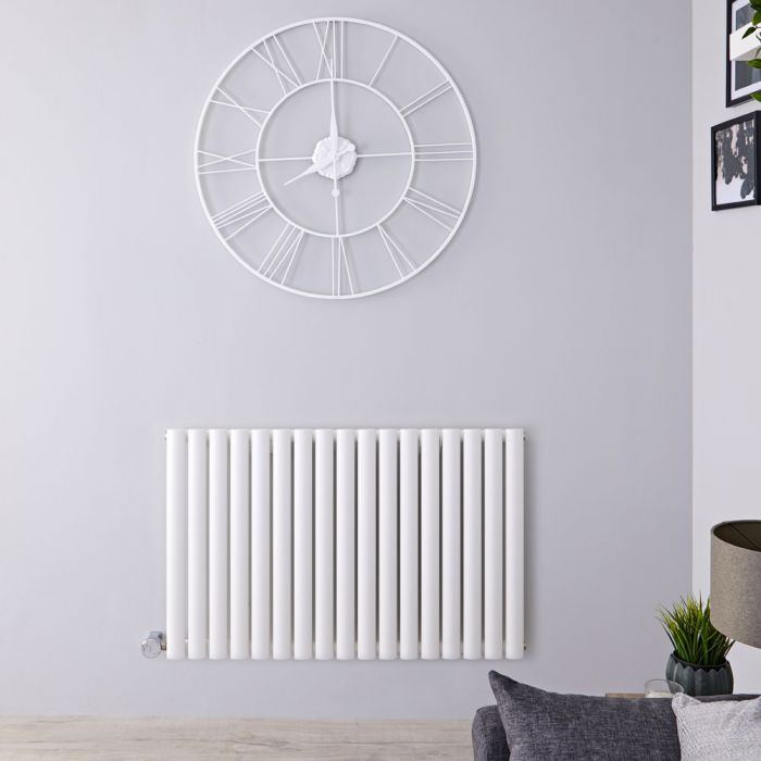 Designradiator Elektrisch Thermostatische Horizontaal Wit 63,5cm x 100cm | Revive