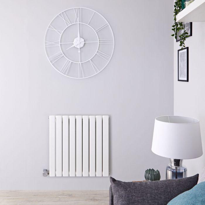Designradiator Elektrisch Thermostatisch Horizontaal Wit 63,5cm x 63cm   Delta