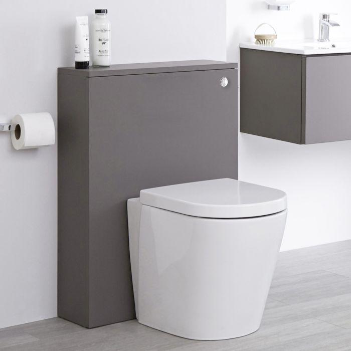 Staand Keramisch Toilet + Stortbak Ombouw + Stortbak 3/6L Mat Grijs - Newington
