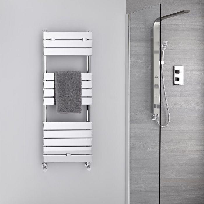 Lustro Verchroomd Handdoekradiator Staal Chroom 121,3cm x 45cm 4,5cm 374 Watt