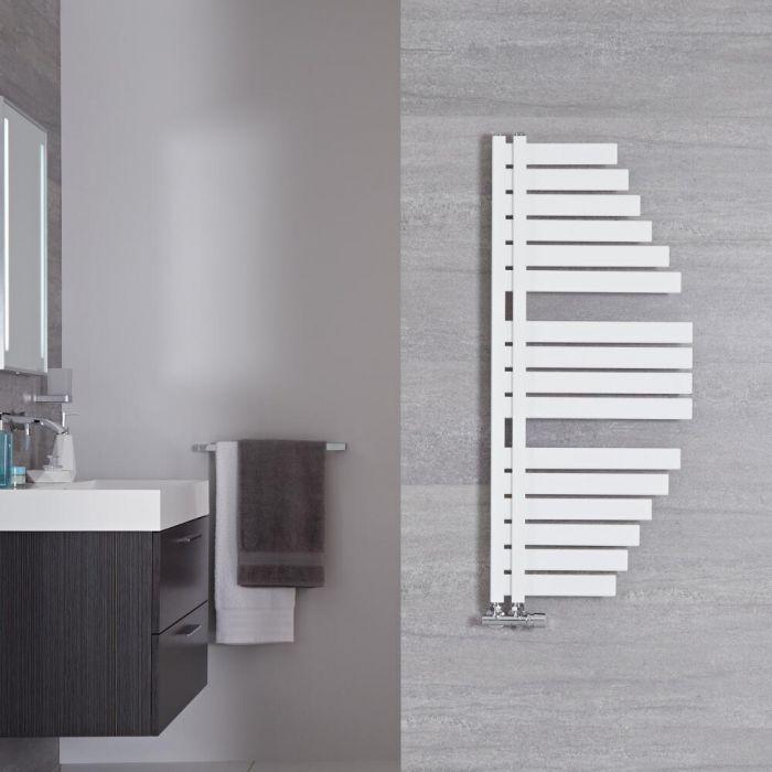 Lazio Designer Handdoekradiator Mineraal Wit 110cm x 48,3cm 507Watt