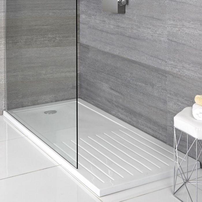 Douchebak met Droogruimte Rechthoek Afgedekt met Acryl Wit 140 x 90cm | Maxon