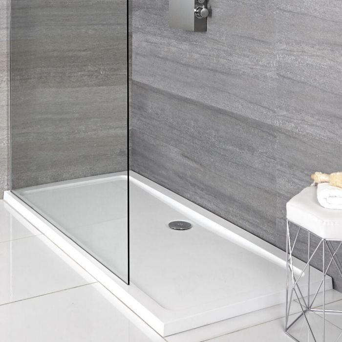 Rechthoekige Douchebak Afgedekt met Acryl Wit 120 x 80cm | Maxon