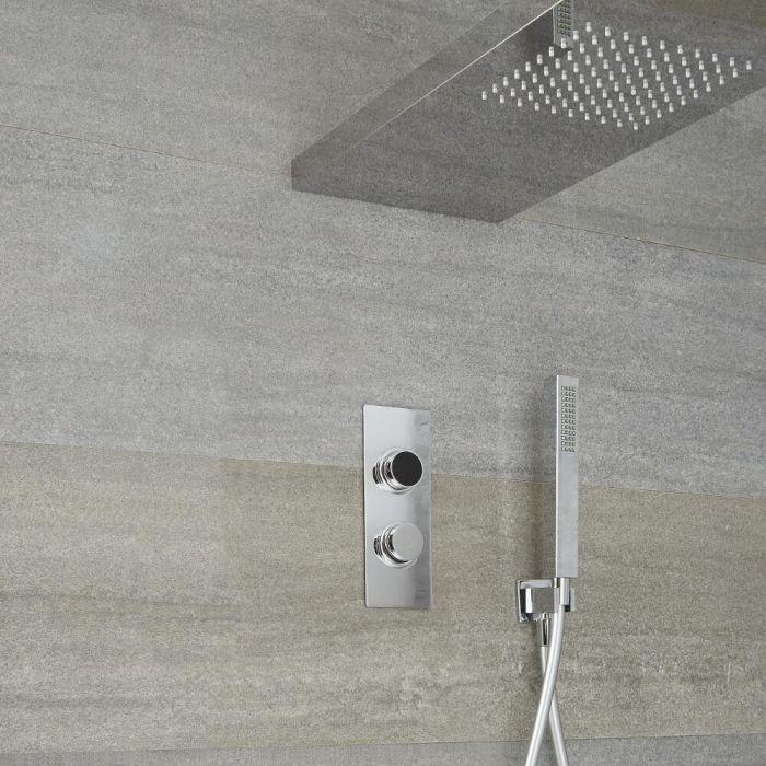 2-weg Digitale Thermostaatkraan 80cm Douchehemel en Handdouche | Narus