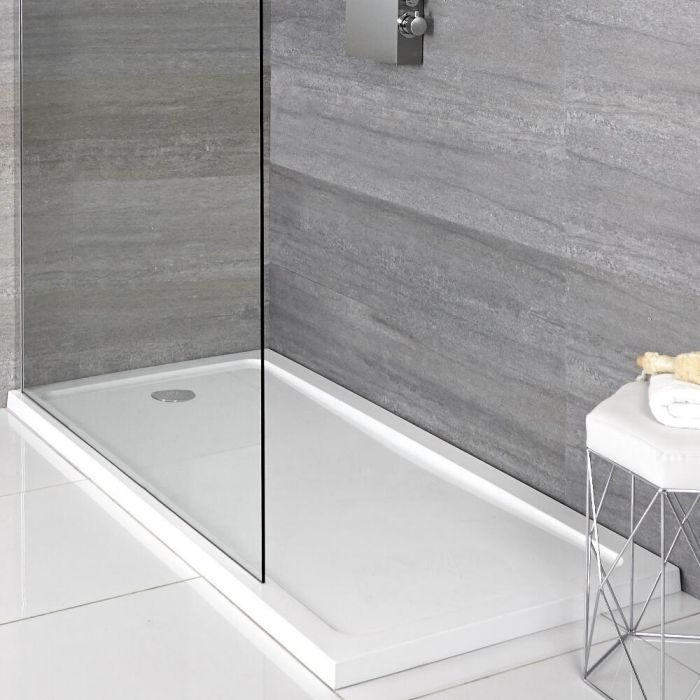 Douchebak Rechthoek Afgedekt met Acryl Wit 170 x 70cm | Maxon