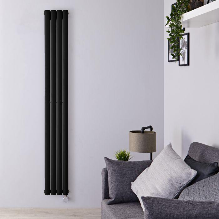Designradiator Elektrisch Thermostatisch Verticaal Zwart 178cm x 23,6cm | Revive