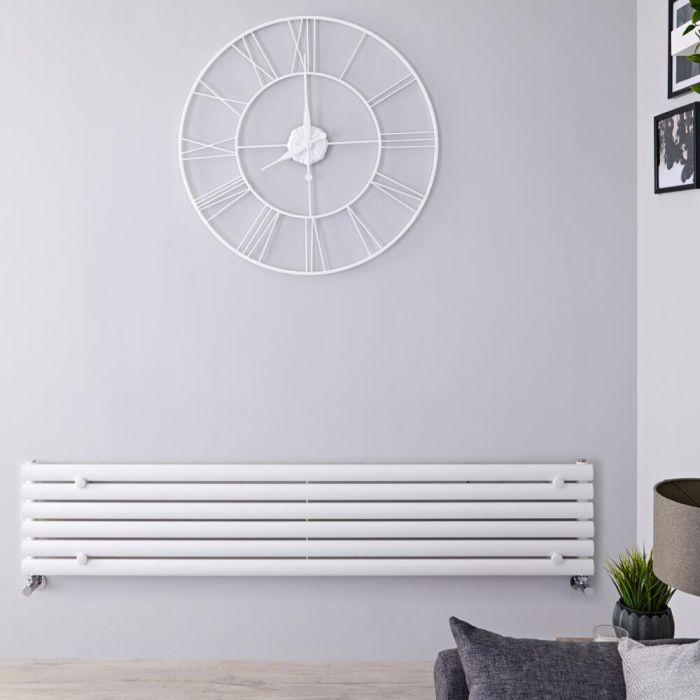 Revive Designradiator Horizontaal Wit 35,4cm x 178cm x 5,6cm 888 Watt