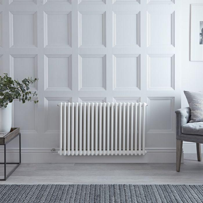 Designradiator Elektrisch Horizontaal Klassiek Wit 60 x 101cm | Keuze WiFi-Thermostaat | Windsor
