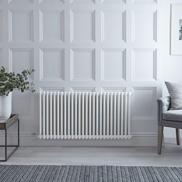 Designradiator Elektrisch Horizontaal Klassiek Wit 60 x 119cm | Keuze WiFi-Thermostaat | Windsor