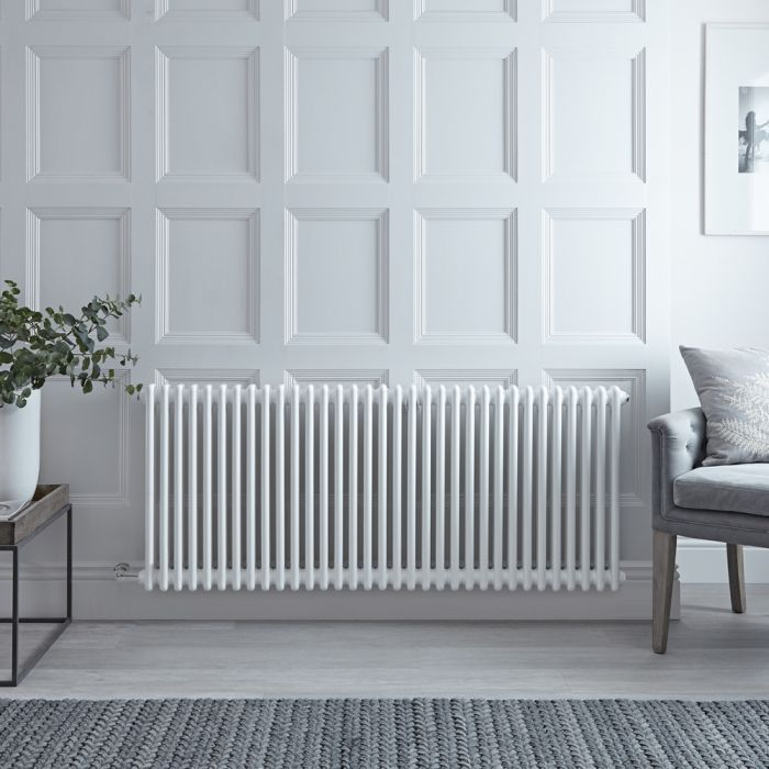 Designradiator Elektrisch Horizontaal Klassiek Wit 60 x 150,5cm | Keuze WiFi-Thermostaat | Windsor