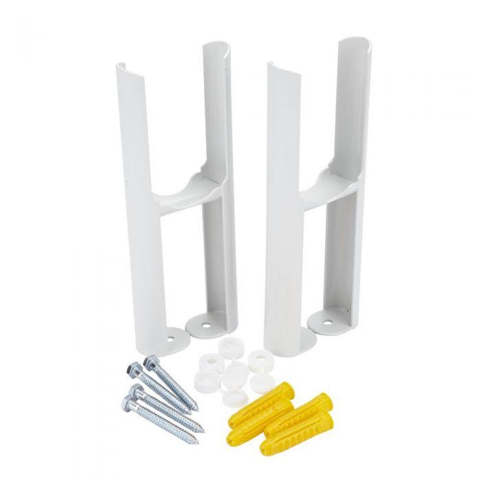 Radiatorpoten - Alleen geschikt voor de Klassieke 2-kolom radiator - Wit -22,5cm x 9,5cm x 7,5cm