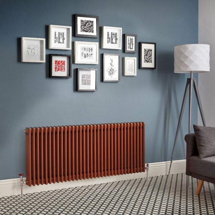 Kolomradiator Horizontaal Koper Metallic | Kies de Afmeting | Windsor