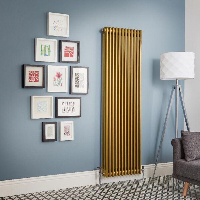 Kolomradiator Verticaal Goud Metallic | Kies de Afmeting | Windsor