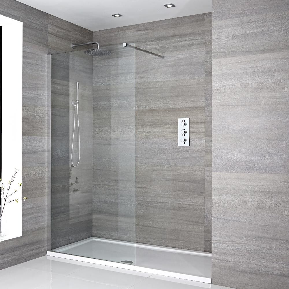 Inloopdouche combinatie chroom acryl douchebak 150 x 70cm for Porcelanosa douche