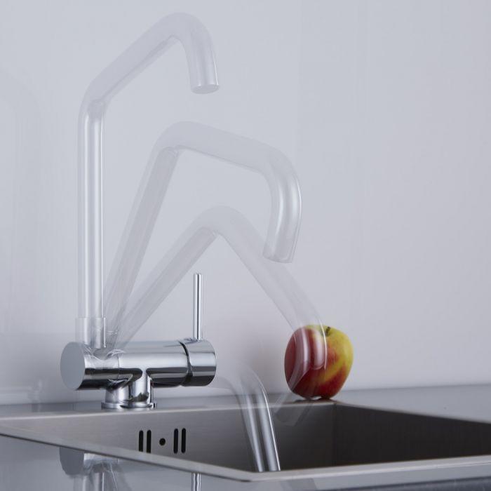 Design Keukenmengkraan - opvouwbaar/ inklapbaar - Chroom