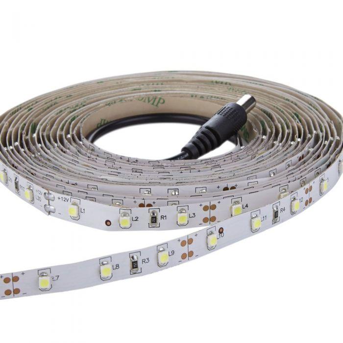 1 x IP20 LED 3528 strip verlichting - 5 meter - Koel Wit - Binnenverlichting