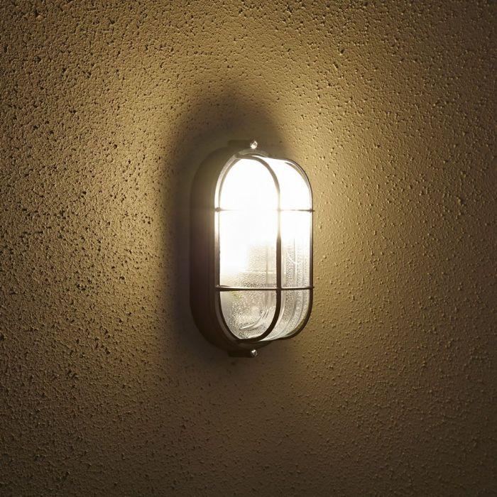 Ovalen Zwarte Buitenlamp