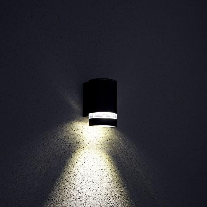 Op- en Neerwaartse Buitenlamp - Gehoekt - Zwart