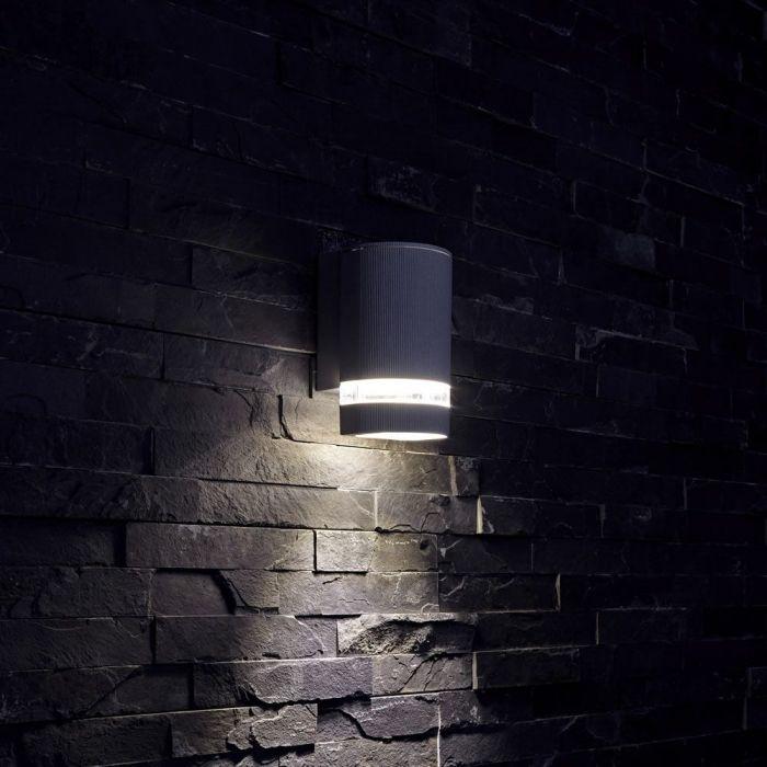 Op- en Neerwaartse Buitenlamp - Gehoekt - Zilver