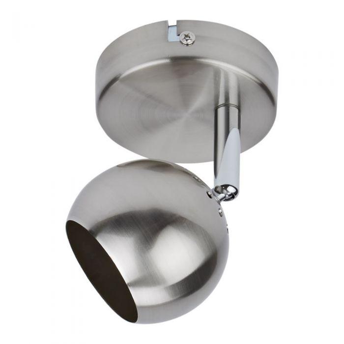 1 x Plafond Spotlight GU10 - Satijn nikkel