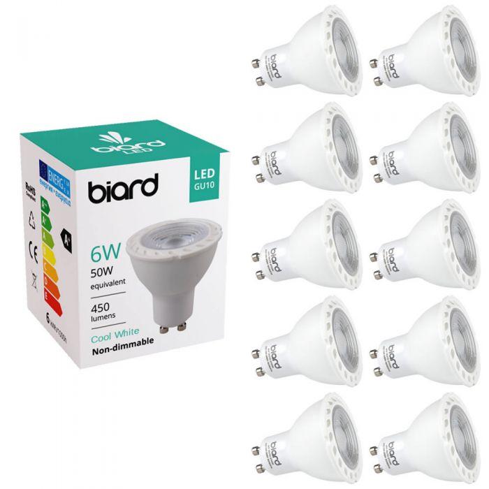 Multipak - 10 x GU10 6W LED Spot - Vervangt 50W