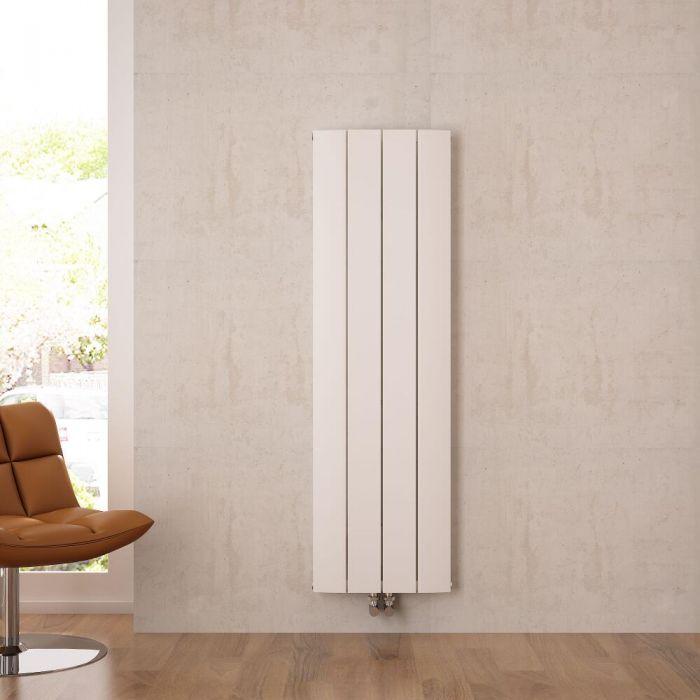 Aurora Designradiator Verticaal Middenaansluiting Aluminium Wit 160cm x 37,5cm x 4,5cm 1361 Watt