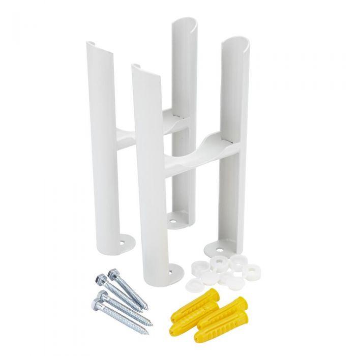 Radiatorpoten - Alleen geschikt voor de Klassieke 3-kolom radiator - Wit -22,5cm x 13cm x 8cm