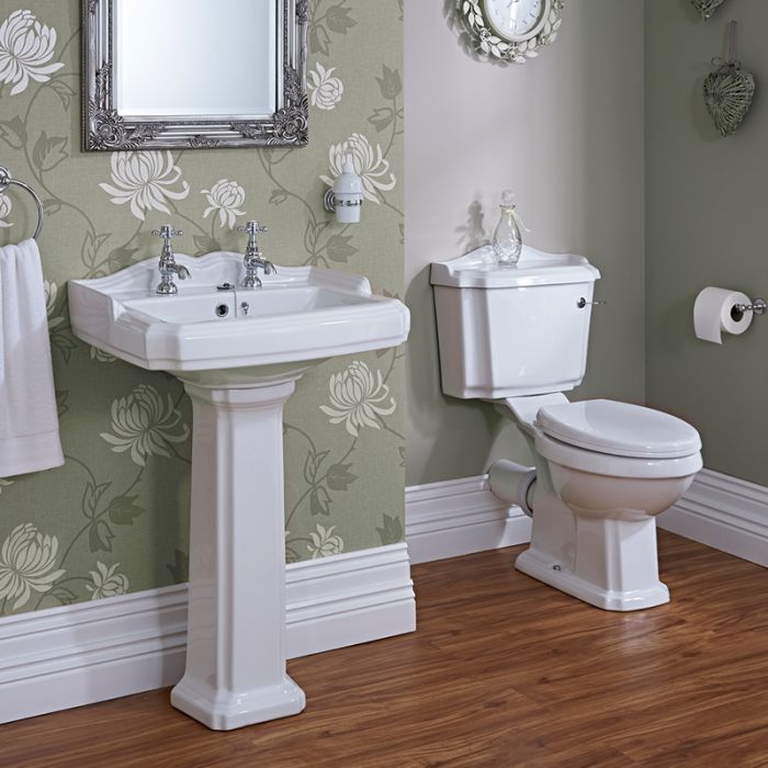 Klassieke Wastafel en Toiletcombinatie