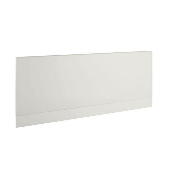1 x Wit Voorpaneel voor bad inclusief plint- 160cm x 48/55cm