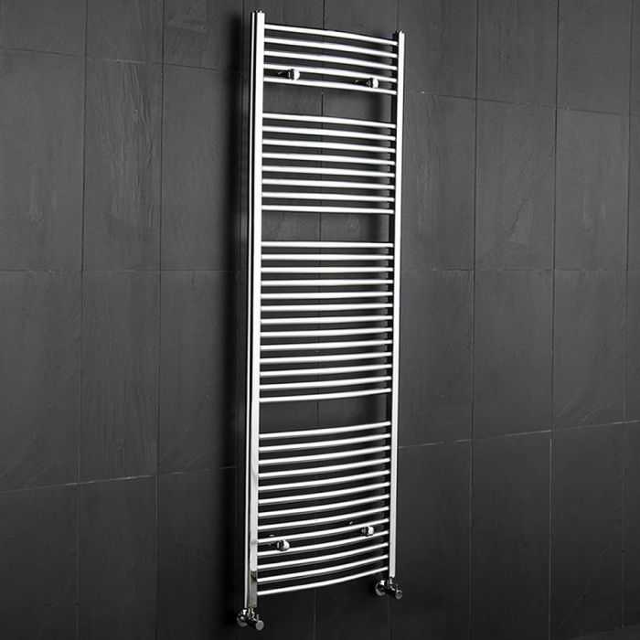 Ischia Handdoekradiator Chroom 180cm x 60cm x 5,2cm 827 Watt
