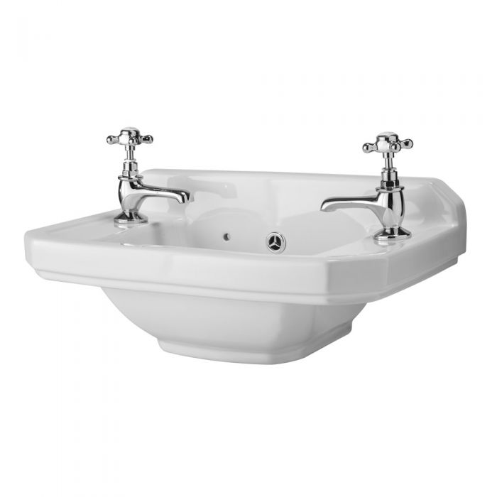 Old London Richmond wastafel ideaal voor toilet - 2 kraangaten