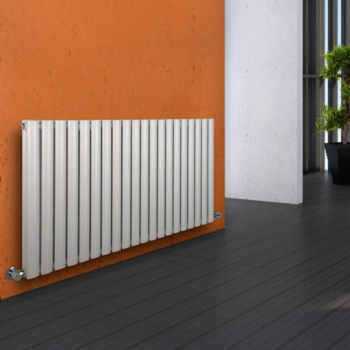 Revive Designradiator Horizontaal Wit 63,5cm x 118cm x 7,8cm 1863 Watt