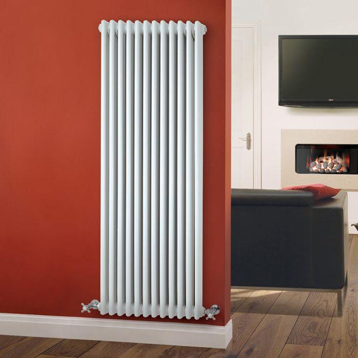 Windsor Designradiator Verticaal Klassiek Wit 150cm x 56,3cm x 10cm 2081 Watt