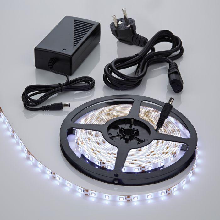 1 x Waterbestendige LED 3528 strip verlichting incl Driver & Kabel - 5 meter - Wit