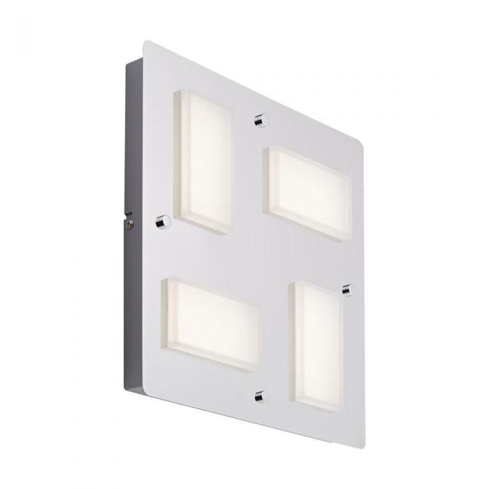 Kivu Plafondlamp / Wandlamp LED IP44 18W (4 lampen uitvoering)