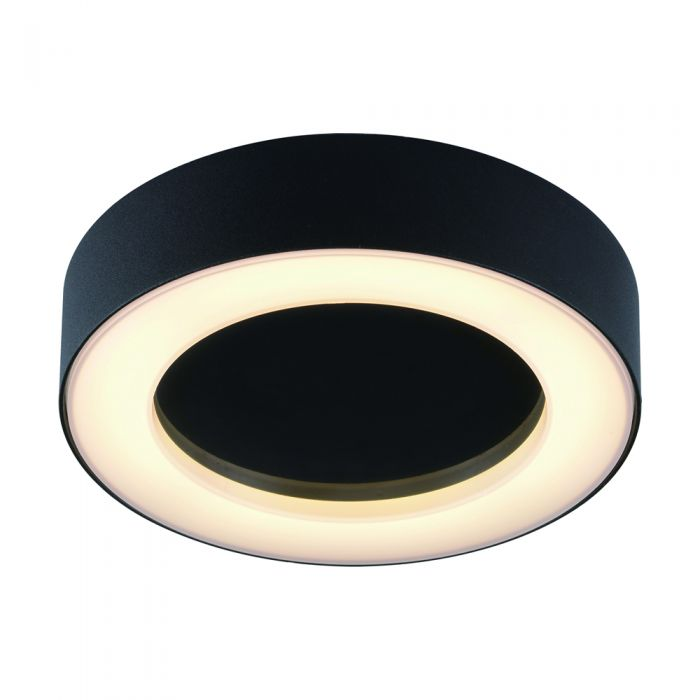 Badkamer Plafondlamp Rond Zwart 13W SMD LED IP54