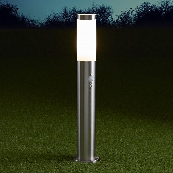 Le Mans Sokkellamp RVS PIR Sensor 60cm Hoog E27 / IP44