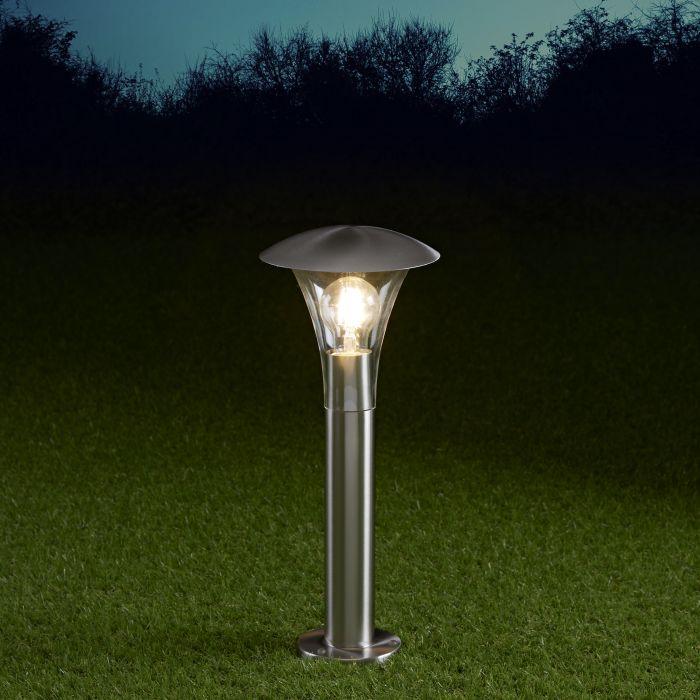 Cholet Dimbare Sokkellamp 45cm RVS E27 IP44