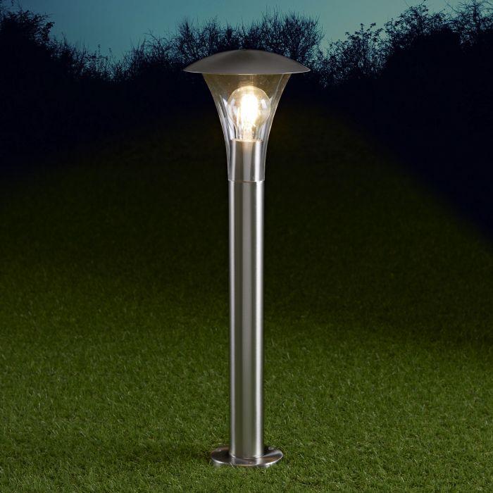 Cholet Dimbare Sokkellamp RVS 60cm E27 IP44