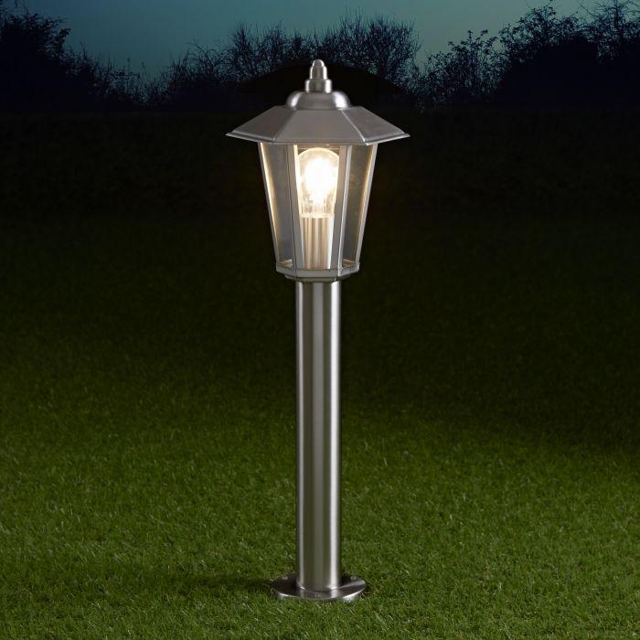 Cannes Dimbare Sokkellamp 60cm RVS E27 IP44