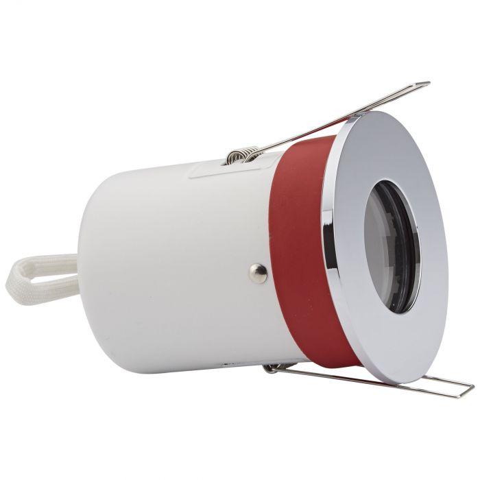 1 x IP65 GU10 Inbouwspot Excl Lamp Incl 3 x Omlijstingen Rond
