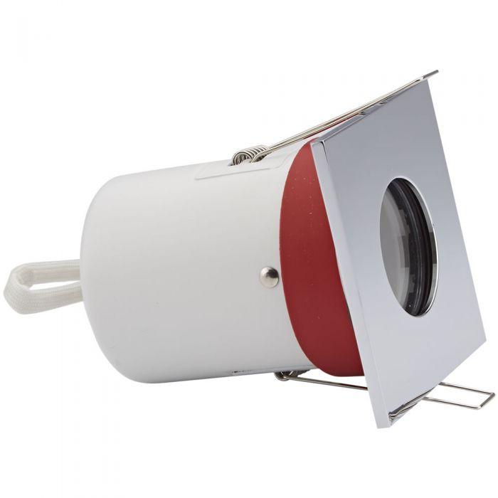 1 x IP65 GU10 Inbouwspot Excl Lamp Incl 3 x Omlijstingen Square