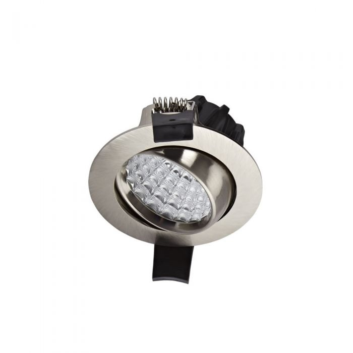 1 x 7W Dimbare en Kantelbare LED Inbouwspot incl Lamp & Driver - rvs