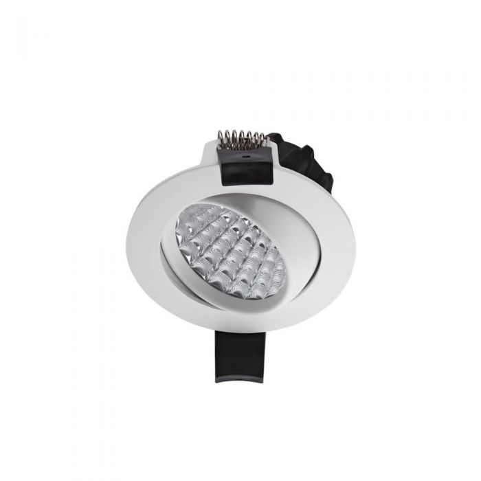 1 x 7W Dimbare en Kantelbare LED Inbouwspot incl Lamp & Driver - Wit